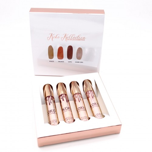 Набор матовых блесков для губ Kylie Jenner Koko 4 шт.