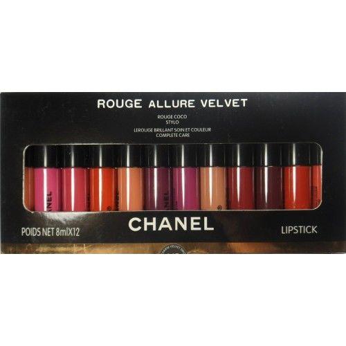12 матовых блесков  для губ Chanel Rouge Allure Velvet