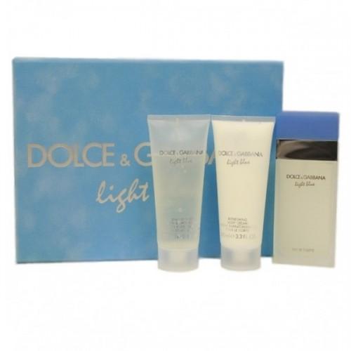 """Подарочный набор Dolce And Gabbana Light Blue"""", 3 в 1"""""""